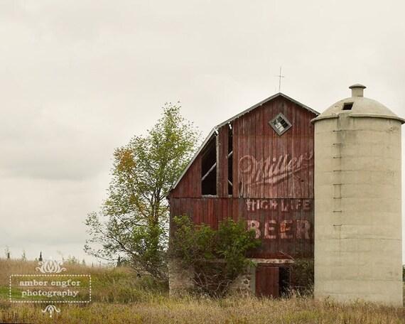 Miller High Life Barn - 5x7 Photo Print