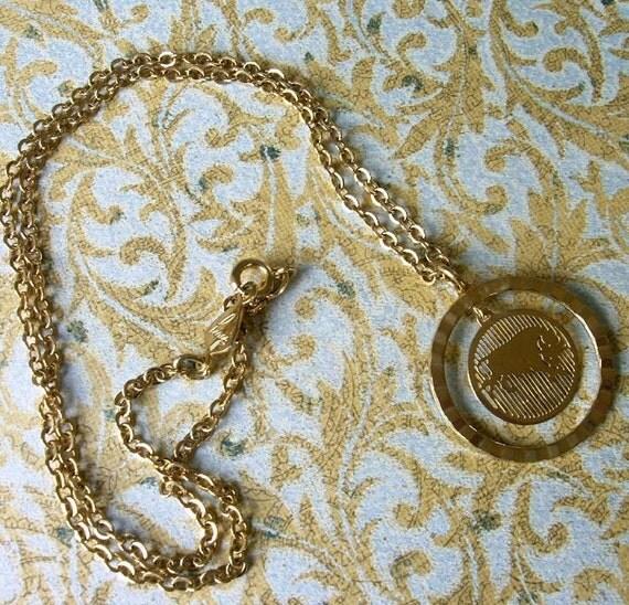 Biagi Goldtone Taurus Pendant