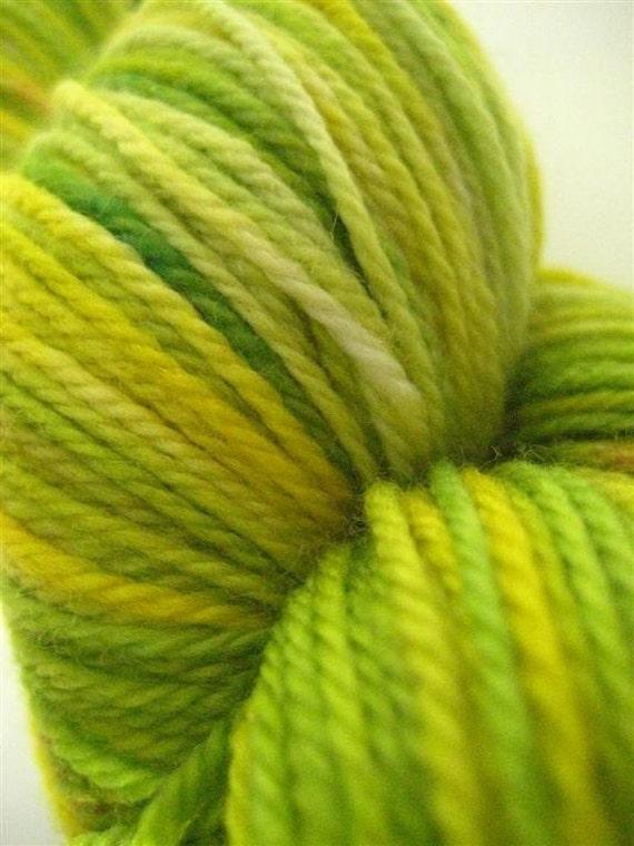 Sock Yarn, Fingering Weight Superwash Merino, in Freshly Cut Grass