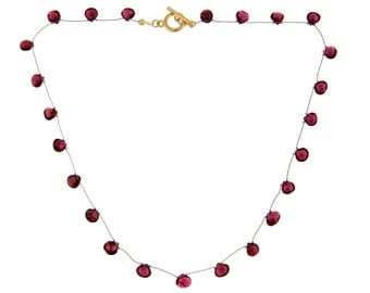 Garnet teardrop necklace