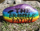 Custom Handpainted Garden Stone RESERVED FOR LAUREN