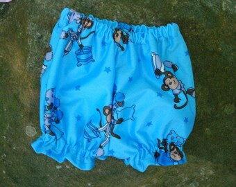 Baby Girl's or Boy's Waterproof Shortie Diaper Cover - Limited Sizes - Monkey PJ Party 712