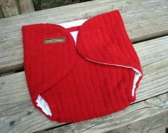 Recycled Lambs Wool Wrap Soaker Diaper Cover with Wicking Liner - Unisex Toddler - Taylor 909
