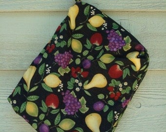 Durable, Double Layer Top Loading Wet Bag with Cotton Exterior - Fruit