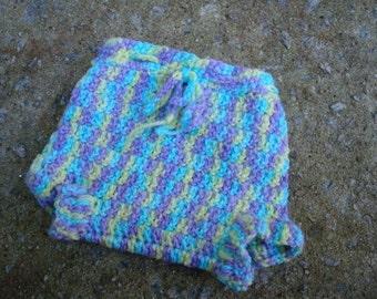 Newborn Baby Girls Wool Shortie Soaker Diaper Cover - Playtime 523