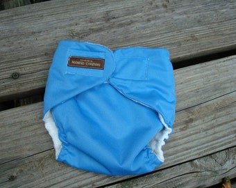 Lightweight, Waterproof ADULT Wrap Diaper Cover in Your Color Choice - Lined or Unlined