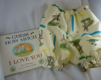 Baby Gift Set - Waterproof Pull Up Shorts Diaper Cover with Classic Book - Guess How Much I Love You 1103