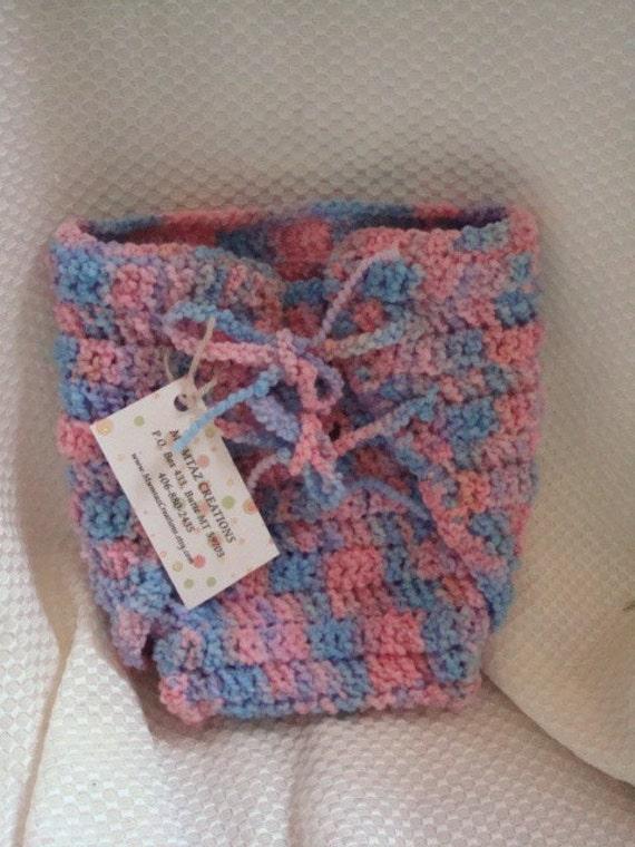 Custom Wool Wrap Soaker Diaper Cover - Newborn Unisex - Baby Rainbow 280