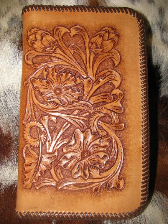 hand tooled leather day planner