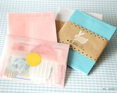 6 PASTEL VELLUM ENVELOPES (choose from 3 colors)