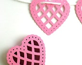 Pink Heart Doily Garland Kit