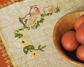 Rustic Placemat - Embroidered