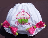 Personalized Birthday Cupcake  Diaper Cover