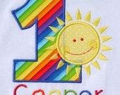 Boys' Birthday Rainbow and Sunshine  T-Shirt or Bodysuit