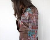 80s secretary dress in burgundy, green, grey, fall fashion, large, medium