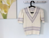 The Dainty Jumper, 70s pointelle sweater (small)