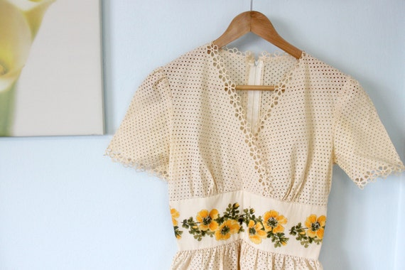 RESERVED for Lisa - Lovely Lace Spring Dress, 80s