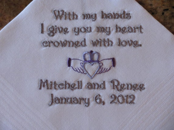 Personalized machine embroidered wedding by simplysweethankies