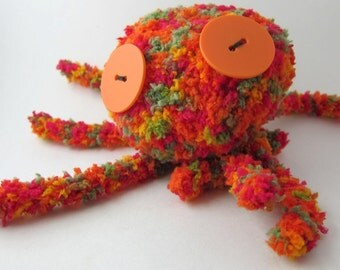 Octopus toy rainbow knit toy stuffed doll