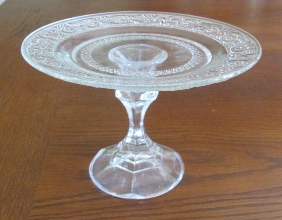 "7"" Glass Cake Pedestal"