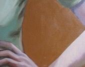 Resting - original oil painting