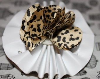 Leopard and Leather Barrette