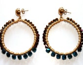 Color Block Wire Wrapped Hoops