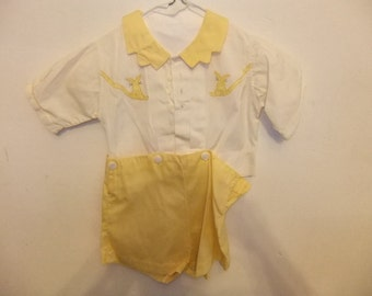 Vintage Little Boy's Short Set