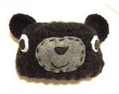 cape cod bear hat - black baby bear hat crocheted - cape beach crochet