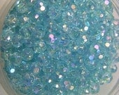 Glass beads, Crystal Faceted AB Finish, Blue, Spacer Beads 4mm   50pcs