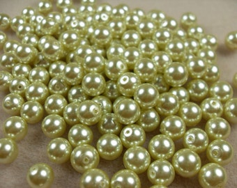 SALE Glass Pearls .light green glass pearl,rounds 8mm 40pcs