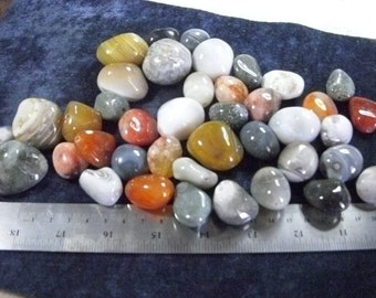 Gemstone Bead Agates, Huge Nugget, Smooth Polished, Multi Color  28-39mm Price for 5 pcs