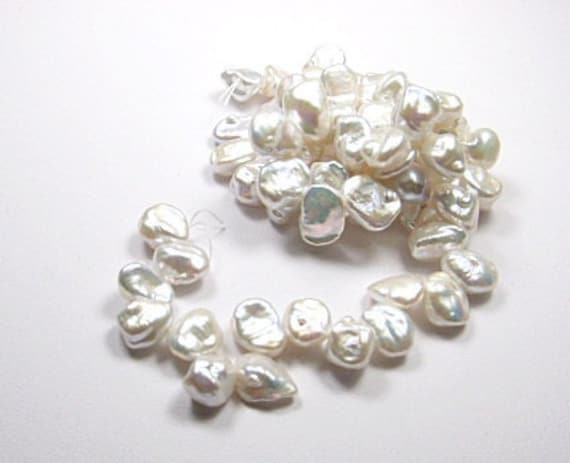 For Marlene Gem Quality, Small Keishi Pearls, Japanese, Top drilled,   White  6-7mm. Strand