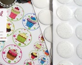 100 Combo Bottle Cap Epoxy  - PU (Polyurethane) Combo Pack - 50 GLITTER and 50 CLEAR(or any combination) Epoxy