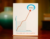 You're Off The Charts - Line Graph Congratulations Card (100% Recycled Paper)