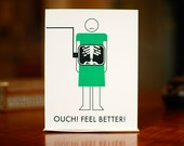 X-Ray Vision - Broken Bones Get Well Card on 100% Recycled Paper