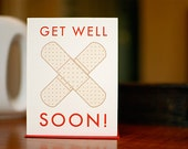 Boo Boo Bandages Get Well Soon Card - 100% Recycled Paper