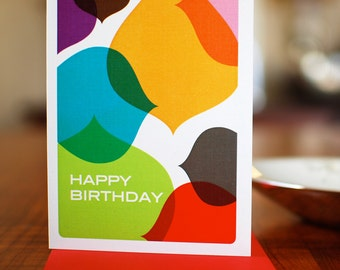 Inkdrops - Colorful Abstract Birthday Card on 100% Recycled Paper