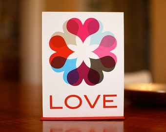 Love Comes 'Round - Ring of Hearts I Love You Card on 100% Recycled Paper