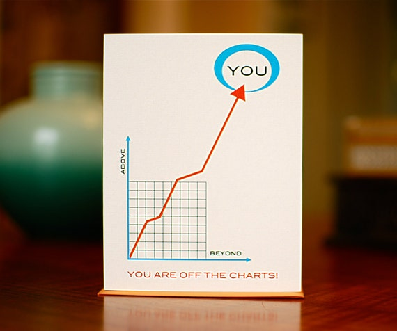 you u0026 39 re off the charts line graph congratulations card