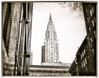 New York City Photography Chrysler Building Black and White Art 8x10 Print