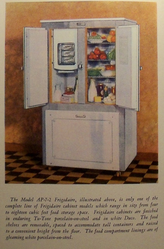 1929 Vintage Frigidaire Refrigerator Cook Book