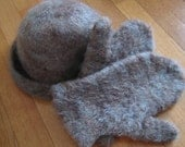 Felted Hat and Mittens