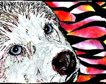 Pet Portraits Custom Stained Glass Mosaic- Pet Lovers- Dog Lovers- Cat Lovers