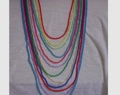 Rainbow Color Necklace Set earrings bracelet red blue green yellow purple teal mint