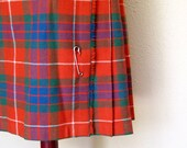 Authentic Vintage Tartan Kilt Size Medium Made in England by F. J. Bacon
