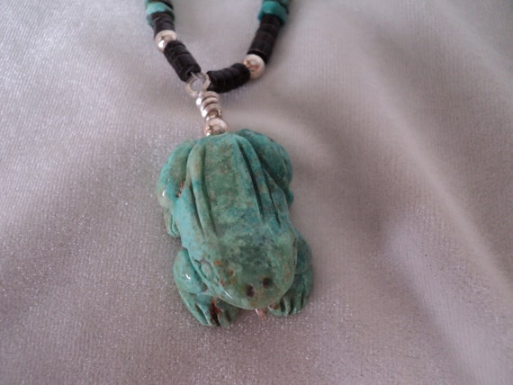 Fabulous Frog: Turquoise and Shell Necklace