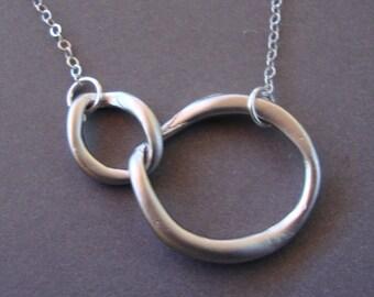 Silver Link Necklace - Best Friends - Always Together Necklace - Original 4ever4