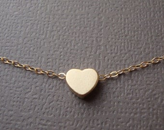 Heart Necklace- gold filled, lovely gift, friendship, mother, sister, simple and sweet everyday jewelry