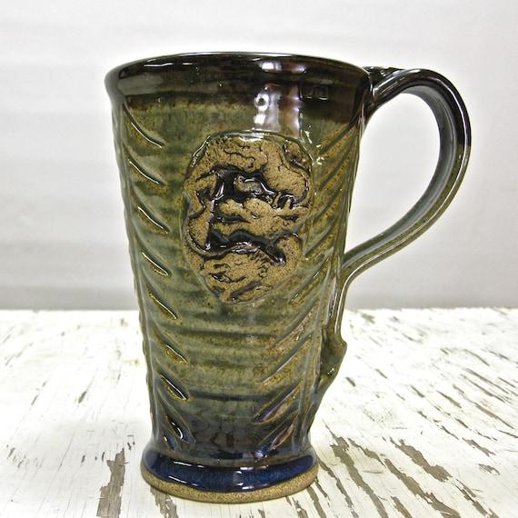 Green Dragon 19 Oz Stoneware Mug By Middleearthenware On Etsy